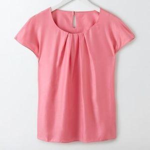 Boden Ravello Silk Blend Pink Top
